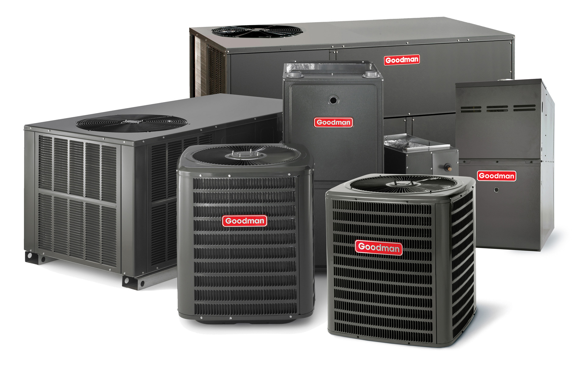 Goodman HVAC systems available at HRDair